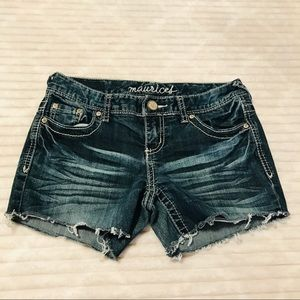 Maurices X Short Distressed Denim Jean Shorts 1/2
